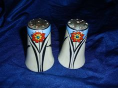 Lusterware salt and pepper set
