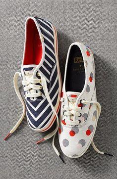 blue and white chevron stripe sneaker! need them!