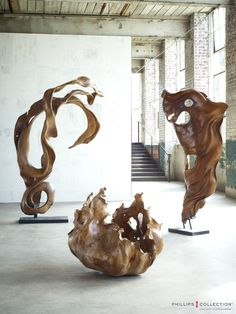 Mahoni Wood Sculptures, One Of a Kind from Phillips Collection.