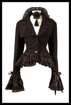 Want this. I love corsets so much so you know I light up on bustle jackets and coats hee hee:)