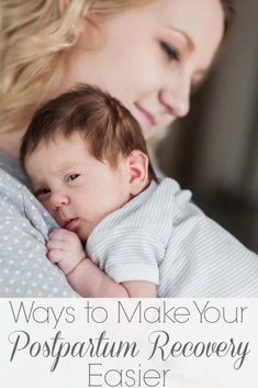You are all prepped and ready for baby to arrive. but don't forget about you, mama! You'll want to read these ways to make your postpartum recovery easier! Postpartum Care, Postpartum Recovery, Postpartum Depression, Natural Birth, Natural Baby, Natural Life, Natural Living, Natural Parenting, Gentle Parenting