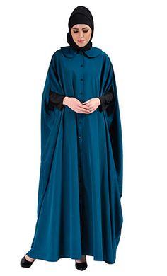 Cape Jilbab Dress - Teal