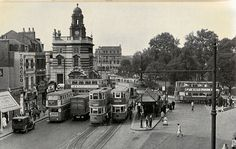 """Camberwell Green"", London, UK - c1950 by mikeyashworth, via Flickr"
