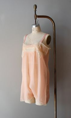 1920s lingerie / 20s flapper silk chemise / Miss Anabelle Lee --- looks more like camiknickers/combinations than a chemise...