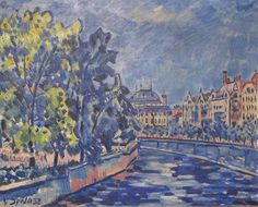 Vaclav Spala National Theatre from Manes, 1932 Prague Astronomical Clock, Prague Castle, Old Town Square, Fauvism, Green Valley, Post Impressionism, Mondrian, World Heritage Sites, National Theatre