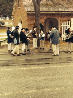 band playing Christmas hymns and carols in Old Salem,NC