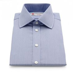 Turnbull and Asser Blue Hairline Stripe Shirt