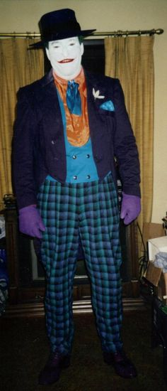 Joker (Jack nickelson) cold foam smile  and costume made by me.