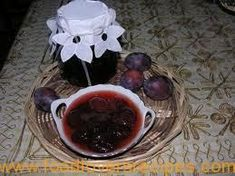 PRUIM KONFYT Microwave Recipes, Prunus, Dessert Recipes, Desserts, Pickles, Recipies, Veggies, Appetizers, Pudding