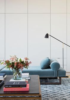 beautiful blues in a modern home Catherine Kwong Design