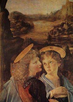 Baptism of Christ by Leonardo Da Vinci