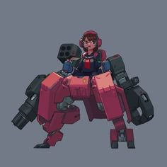 Come here if you have a mecha addiction, or you want to have a mecha addiction ^_^. Female Character Design, Character Creation, Character Concept, Character Art, Arte Robot, Robot Art, Mecha Suit, Arte Cyberpunk, Cool Robots