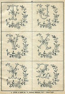Free Easy Cross, Pattern Maker, PCStitch Charts + Free Historic Old Pattern Books: Sajou No 346 Embroidery Alphabet, Embroidery Monogram, Cross Stitch Alphabet, Vintage Embroidery, Ribbon Embroidery, Cross Stitch Embroidery, Machine Embroidery, Embroidery Designs, Embroidery Sampler
