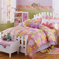 modern shabby chic bedroom designs with pastel bedding