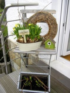 Easter: Easter and spring decoration Source by fraamensch Outdoor Spaces, Outdoor Living, Outdoor Decor, Pin Collection, Outdoor Furniture Sets, New Homes, Easter, Spring, Inspiration