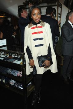 """Hot! or Hmm… Estelle's Tommy Hilfiger and GQ """"The Men of New York"""" Event"""" Tommy Hilfiger Spring 2015 Cape and Black Leather Booties"""