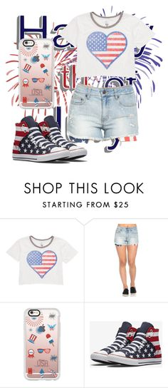 """happy 4th of July"" by queennailah ❤ liked on Polyvore featuring Billabong and Casetify"