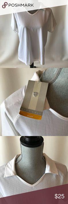 Women's Nike Dri-Fit Golf Shirt White collared Nike Dri-Fit golf shirt. New with tags Nike Tops