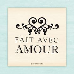Tampon Craft Origine - Fait avec amour / Craft Origine stamp