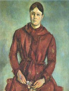 1890_Portrait of Madame Cezanne in a Red Dress  - Paul Museu de Arte, Sao Paulo, Brazil