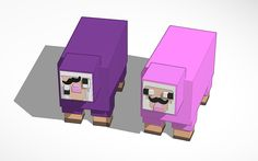 design 'Pink Sheep & Purple Shep All credit goes to the creator :)' created by RubberFruit - Inactive :( with Tinkercad.
