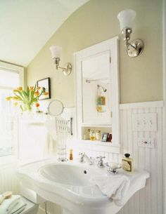 Bathroom Decorating Pictures...LOve the light and the awesome windows!♥