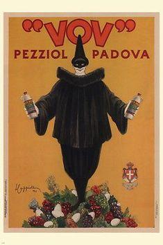 Vov Pezziol VINTAGE AD POSTER L Cappiello Italy 1922 24X36 Collectors NEW