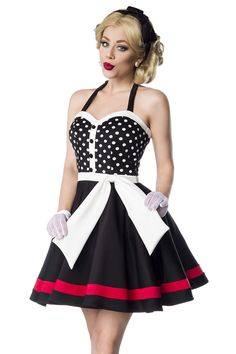 528a842ef1 Jayne Halter Dress in Black and White - Modern Grease Clothing and  Accessories Co. Rockabilly