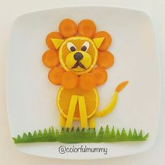 Fruit lion by @colorfulmummy