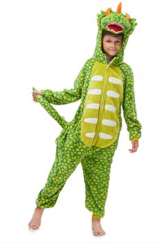 This is a cute Triceratops costume. Very soft and warm fabric. The headpiece is somewhat floppy but not a dealbreaker. #Triceratopsonesiepajama #greenonesiesforboys #funnyKigurumipajama