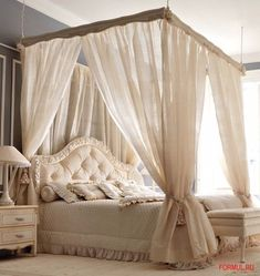 43 Beautiful Diy Canopies Ideas For Bedroom On A Budget To Try - Canopy beds are not just for royalties or rich people. You can have a canopy bed in your bedroom and you don't even have to spend a fortune. Bedroom Layouts, Room Ideas Bedroom, Home Decor Bedroom, Modern Bedroom Furniture, Contemporary Bedroom, Contemporary Kitchens, Furniture Nyc, Furniture Online, Canopy Bedroom