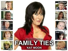 Family Ties Kat Moon played by Jessie Wallace.