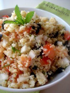 El taboulé es una ensalada típica libanesa que se prepara con bulgur, verduras frescas y plantas aromáticas como el perejil, el cilantro o l...