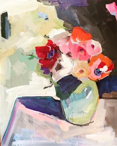 """Daily Paintworks - """"501 Vase of Abstract"""" - Original Fine Art for Sale - © Jenny Doh"""