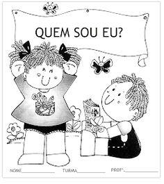 ♥ Sorvete Colorê ♥: Projeto Quem Sou eu? Reggio, Professor, Snoopy, Education, Comics, School, Kids, Fictional Characters, Portuguese