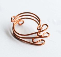 Wire Wrap Wave Ring