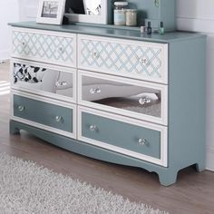 The Mivara 6-Drawer #Dresser with Customizable Drawer Fronts by Signature Design by Ashley  http://www.olindes.com/BrowseBedRoom.aspx?LinkID=21