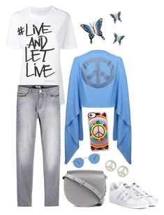 Live and let live by cashmererebeluk on Polyvore featuring Neil Barrett, Karl Lagerfeld, adidas Originals, Givenchy, BillyTheTree, Casetify, Garrett Leight, NOVICA, peace and cashmere