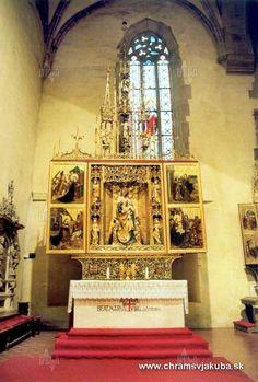 Chrám sv. Jakuba v Levoči - Eglise St-Jean dans la ville de Levoča , Slovaquie