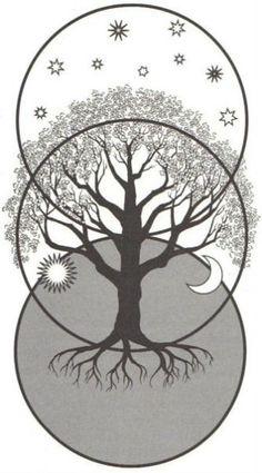 Tattoo Tree Of Life Mandala Symbols New Ideas Kunst Tattoos, Body Art Tattoos, New Tattoos, Large Tattoos, Tattoo Drawings, Sleeve Tattoos, Tattoo Life, Tree Of Life Tattoos, Celtic Tree Tattoos