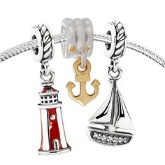 Pandora Sail Away Set -  	This Pandora Nautical Charm set will have you smooth sailing in no time! 	#PandoraSummercontest