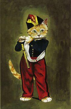 수잔 허버트 피리부는 소년, 수잔 허버트는 명화나 유명한 작품을 고양이를 주인공으 패러디하는 화가이다. 원작에서 피리부는 소년(소녀)의 동글한 눈때문에 고양이 상이라고 생각했는데 이렇게 직접 고양이로 표현해 놓으니 원작과 다를바가 없다는 생각이 들기도 한다.