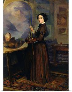 Sofia (1825-1867) Sukhova-Kobylina Poster Print Wall Art Print entitled Self Portrait (oil on canvas), None