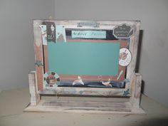 Ardoise sur pied scrapbooking Home And Deco, Frame, Home Decor, Standing Desks, Triptych, Slate, Board, Homemade Home Decor, A Frame