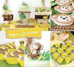 social/rush/bid day THEME inspiration ~  monkeys& bananas party ideas!