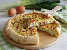torta rustica con porri pancetta e speck saporita e gustosa, semplice e veloce