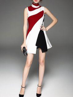 Dress P, Ruffle Dress, Short Dresses, Dresses For Work, Fashion Online, Contrast, High Neck Dress, Formal, Shopping