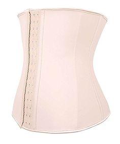 04eb2bb85f73b YIANNA Women s Underbust Latex Sport Girdle Waist Trainer Corset Hourglass Body  Shaper at Amazon Women s Clothing