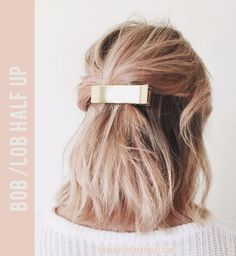 Update your beauty look with a metallic hair accessory.
