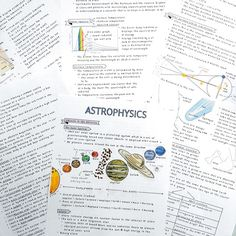 sushi-studies: My newest set of handwritten astrophysics notes. College Notes, School Notes, Law School, College Problems, Pretty Notes, Good Notes, Studyblr, Science Notes, Life Science